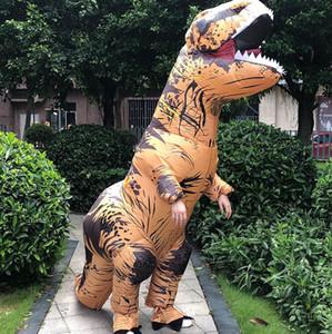T-REX Динозавр Надувной костюм костюм обмундирования Xmas Halloween Динозавр Adult Party Реквизит костюмы партии подарков KKA8048