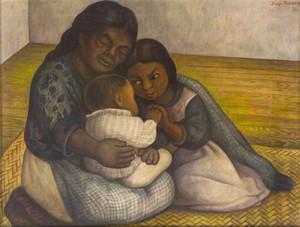 Diego Rivera Die Familie Wohnkultur Handbemalte HD-Druck-Ölgemälde auf Leinwand-Wand-Kunst-Leinwandbilder A371