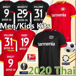 Bayer 04 Leverkusen maglie di calcio HAVERTZ 20 21 Volland Leverkusen Alario 19 20 Football Shirt BAILEY Diaby uomini + bambini kit Jersey