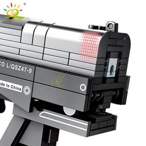 Shooting Set mattoni da costruzione per bambini I bambini della terra per il gioco Blocchi Wandering 364pcs Huiqibao Diy segnale Giocattoli Technic Città Gun yxlLFu xhlove