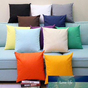 30pcs All Sizes Plain Dyed 8 oz Cotton Canvas Throw Pillow Case Solid Colors Blank Home Decor Pillow Cover More Than