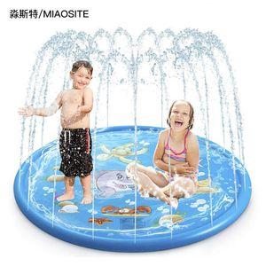 Wasser-Spray-Mat Amazon Heißes verkaufendes PVC-Spielzeug-Wasser-Spray-Mat Sommer Rasen Wasser-Strand-Spielzeug Factory Outlet