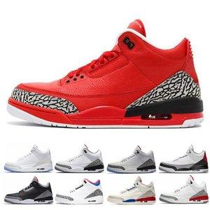 novo Grateful OG JTH Top 3 sapatas dos homens QS Katrina Coréia Preto cimento Tinker tênis de basquete Moda Sp NakeskinJordâniaRetros Sneaker