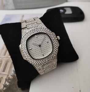 Im Lager Luxus Iced Out Designer-Uhr-Gold-Diamant-Uhr für Mann-Frauen quadratischer Quarz-wasserdichte Armbanduhr Relogio Masculino