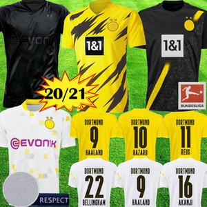 Yeni Borussia Dortmund HAALAND REYNA 110 BELLINGHAM futbol forması 20 21 TEHLİKESİ BRANDT REUS Moukoko Witsel Jersey futbol forması MEN Tay