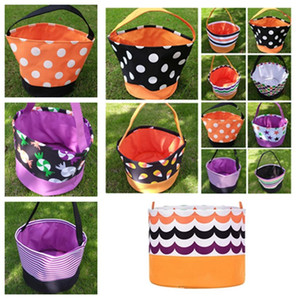 Halloween Bucket Geschenkverpackungen Mädchen Jungen Kind Süßigkeit Sammlung Tasche Halloween-Hand Festival Storage Basket Party Supplies T2I51388