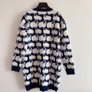 2021 Jacquard Sleeve Designer Milan Neck Long Runway Women's Sweaters V Sweater End Cardigan High Women Sweater 0820-6 Cdipd
