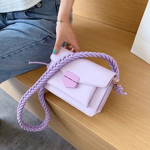 2020 Primavera New Hipster Messenger Bag Woven Shoulder Alça Praça Sling saco da menina