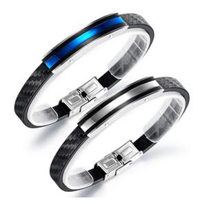 wholesale Brand Simple Men PU Leather racelets Statement Bangles Fashion Male Jewelry New arrivla 2020