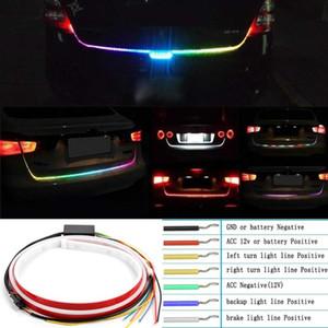 RGB LED автомобиля сзади полосы освещения Tailgate багажа Signal Lamp Динамический Streamer тормозной сигнал поворота Обратный Leds предупредительный световой сигнал
