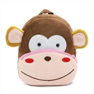 Plush Children Backpacks Kindergarten Schoolbag 3D Cartoon Monkey Animal Kids Backpack Children School Bags for Girls Boys