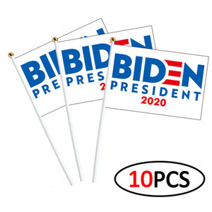 Joe Biden Harris Hand Flagge US-Präsident Biden Harris 14 * 21cm Wahl Flagge Amerikanische Flagge Hand 10pcs / lot Hand Flags CCA12467 30lot