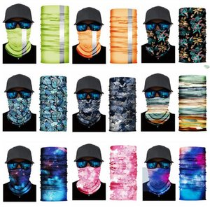 Masks Floral Bandana Scarves Starry Sky Cycling Headscarf Outdoor Sports Headband Anti Haze Washable Dustproof Mask Headscarves AAB1159