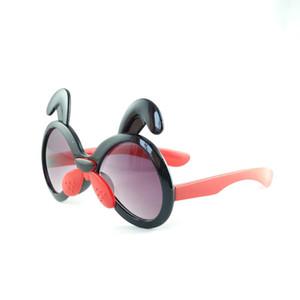 وصول جديد بصورة المحب الكلب نظارات كاندي الألوان لطيف الكلب شكل نظارات شمسية UV400 أطفال نظارات شمسية 5 ألوان بالجملة