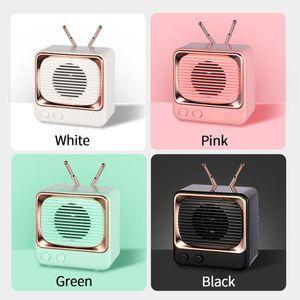 Drop Shipping Amazon Hot Sale Portable Mini DW02 Wireless Blue-tooth Speaker Retro Style Cute Portable Small Stereo