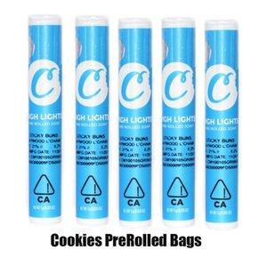 Os cookies Pré Laminados tubo plástico Joint Embalagem Bag com etiqueta para 510 Tópico Vape Pen Carrinhos Cartucho Preroll Package