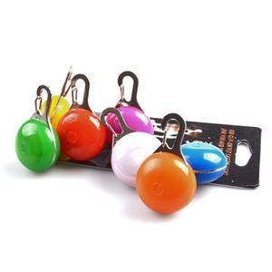 Multi Colors LED Dog Pet Pendant Colorful Light Flashing Luminous Collar Pendant Pet Supplies Glow Safety Tag Xmas Pendant