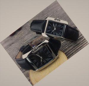 남성 여성 광장 석영 방수 손목 시계 - 까르띠에 로고 톱 브랜드 명품 아이스 조심 골드 디자이너 시계