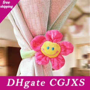 10pcs Home Decoration Curtain Accessories Cute Smile Sunflower Plush Toys Creative Christmas Valentine &#039 ;S Day Gift