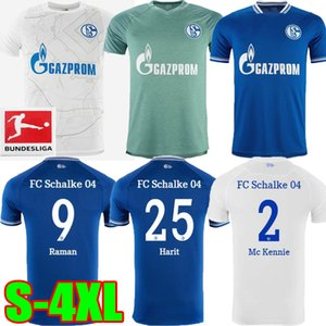 20 21 maillots de football Schalke 04 2021 2020 maison loin OZAN McKennie Caligiuri Raman BENTALEB Burgstaller chemises de football bleu blanc S-4XL