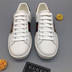 Gucci double g Men's Ace Embroidered Sneaker With Loved Classic Low-top Sneaker White Leather Top Quality Shoes Design Comfortable Luxury Leisure Shoes
