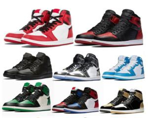 air Jordan Retro 1 High OG chaussures de sport de nouveaux arrivants Haut OG cour profonde ton rouge pourpre amour jaune Jumpman dames Bred chaussures de sport de sport