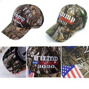 Nouveau Camo Donald Hat 2020 Lettre Drapeau America Grand Camouflage 3D Etats-Unis Faire Trump pour Caps Maga Mens Baseball Broderie Cap Femmes FWA745 BJQX