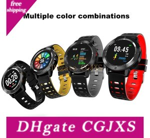 Cf58 relógio inteligente IP67 Waterproof vidro temperado Atividade de Fitness Rastreador Heart Rate Monitor Sports Smartwatch