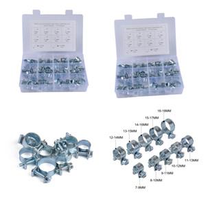 2Pcs 60Pcs box Hose Clamps Assortment Kit 7-18MM Range Plumbing Automotive