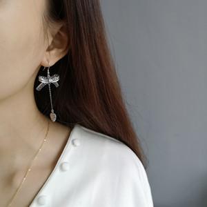 b1IUW coreano farfalla tutto-fiammifero in argento 925 femminile pizzi fatti a mano arco nappa pizzo temperamento capelli corti orecchini sterlina stile orecchini ftOuV