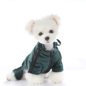 Sweat-shirt Puppy mode d'hiver Chiens Chats Manteaux caniche bichon Bulldog Teddy Schnauzer Animaux Jackets 2 couleurs