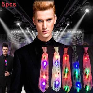 5шт светодиодные светящиеся Боути Галстук моды Красочные партии Концерт Светящиеся Реквизит -MX8