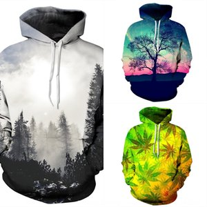 Tide Baseball outfit wear couple wear brand Star forest digital printing hooded sweater large size baseball suit couple suit