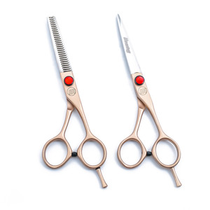 Brand new source factory 6.0 inch Rose gold barber shop barber special flat shear thinning scissors durable
