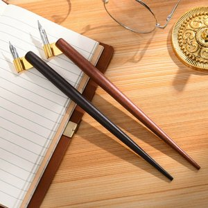 Madera Manga caligrafía Dip titular de la pluma +6 Semillas para las letras Skiching Kit de Dibujo