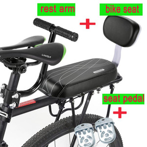 Sap Kolçak Footrest Pedallı Geri istirahat Çocuk Güvenliği Bisiklet Arka Koltuk ile Bisiklet Arka Koltuk