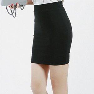 2020 Slim elastico Donne Pencil Gonne di alta qualità a vita alta nero di base Gonne primavera Ufficio