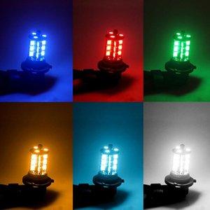 2PCS 16Color H11 Dekorasyon Sis Ampuller / Kablosuz 24 tuşlu IR Uzaktan 27W 800LM Sürüş Lambası 27SMD RGB LED Ampuller w