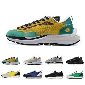 nike sacai x Vaporwaffle fragment Posto Yellow Mens Running Shoes Black White LDV Waffle disfarçado x homens Daybreak brilhante Citron Mulheres Esportes Formadores Sapatilhas