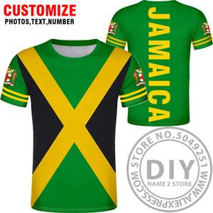 maglietta JAMAICA DIY personalizzato numero nome marmellata fatta in t-shirt nazione bandiera giamaicana jm paese universitario di stampa fotografica 0 abbigliamento CX200819