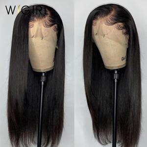 Wigirl 28 30 pouces 360 Lace Front perruques de cheveux humains Pré plumé droit brésilien Remy Lace Frontal perruque pour les femmes noires