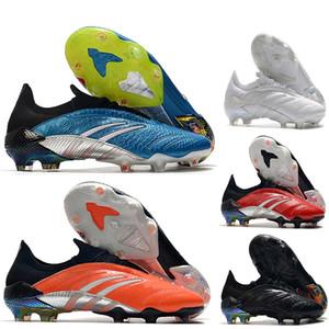 2020 En Kaliteli Erkek Futbol Ayakkabıları Predator Arşiv Sınırlı Sayıda FG Açık Futbol Cleats Deri Futbol Çizmeler Scarpe Da Calcio Mavi