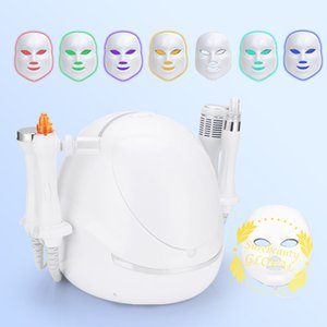 Anti Aging Skin Tightening Facial Lifting Ultrasound Plated Polymer Atomizing Pen Cooling Therapy With LED Photon Mask Hydra Dermabrasion RF