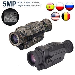 WG535 디지털 야간 단안 200m 전체 어두운 DVR 밤 비전 범위 5 배 광학 배율 사진 비디오 사냥 카메라 T200821