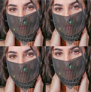 Quaste Glänzend Kopfschmuck Gesichtsmaske Kette für Frauen für venezianische Karneval-Maskerade-Masken Schmuck Nachtclub-Party-Halloween-Maske YP761