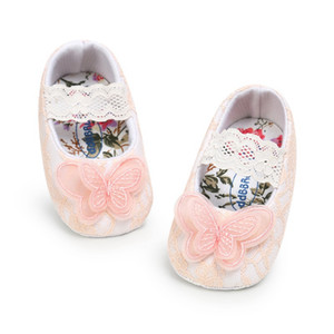Baby Shoes First Walker New Spring Autumn Newborn Cotton Butterfly Lace Princess Shoes Baby Girl Princess