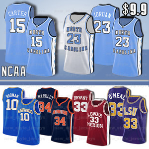 NCAA LSU Tigers Jersey Shaquille O'Neal MARINE Sooners Hardaway Jeune Trae Marquette Dwyane Wade Eagles d'or Iverson Basketball Maillots Z6