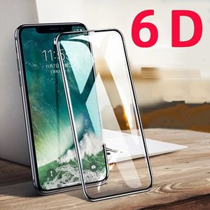 6D Curved Screen Protector for IPhone X XR XS Max Tempered Glass Full Cover Protective Glass on The for IPhone Xr Xs Glass