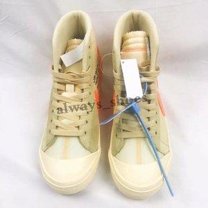 OW дизайнер от черных белых мужчин и женщин случайных кроссовок лучших ботинок Blazer размера 36-45 TT05