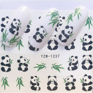 Nail Art Sticker Water Decals Cute Panda Nails Slider Tape Decorations Accessoires Manicure Foil Adhesive Wraps Polish Tattoo